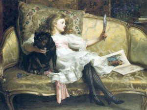 Margaret Collyer - True Friends Girl and Black Pug