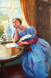 Victorian Lady Writing a Letter - Gillian Marklew