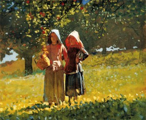 Winslow Homer Apple Picking 1878