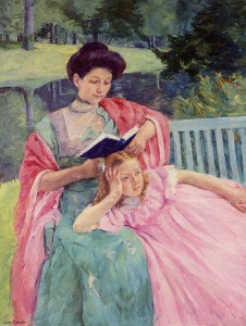 Mary cassatt  Auguste Reading to Her Daughter