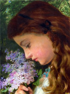 Sophie Anderson The Girl with Lilacs.